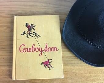 """Vintage Children's Book, """"Cowboy Sam,"""" 1960"""
