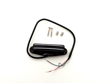 p-stack double hot rails guitar humbucker single coil pickup 5 wire lead use in any position