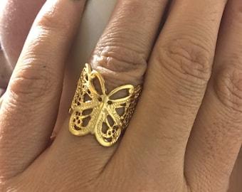 Ring,Metal ring, Yellow ring, women ring, Gold filled ring, adjustable ring,free size ring, brass ring, 24 k gold filled ring, gift for her