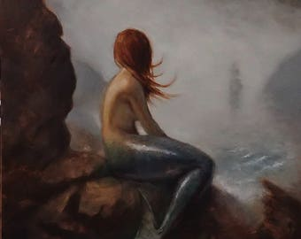mermaid - original oil painting