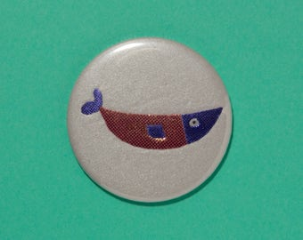 Handbag / pocket mirror Fish