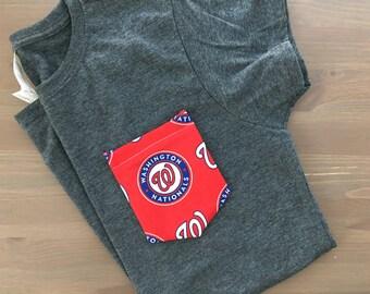 Pocket tee with Washington Nationals Pocket