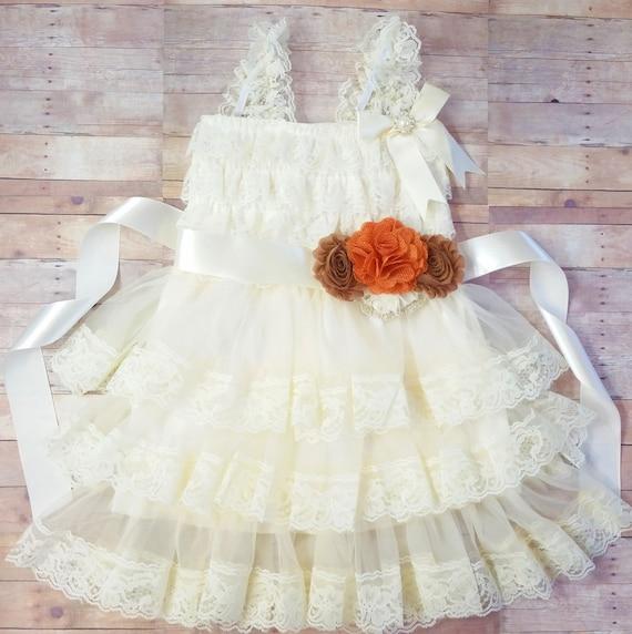 Lace Flower Girl Dress, Baby Girl Vintage Dress, Ivory Flower Girl For Toddlers, Lace Vintage FLower Girl Dress, Lace Dress For Baby Girl