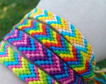 Colorful Chevron Friendship Bracelets