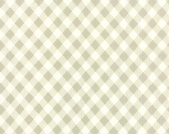1/2 yd Vintage Picnic Gingham by Bonnie & Camille for Moda Fabric 55124 15 Gray