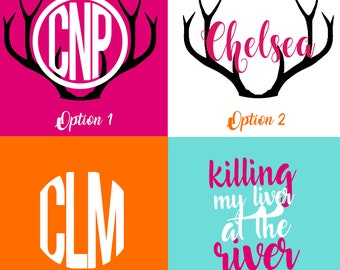 Custom Monogram Sticker