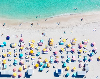 Miami Beach - Pastels II - Aerial Beach Photography