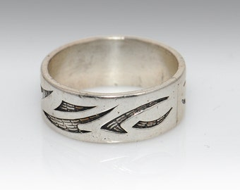 Sterling Silver Band - Size 10.5