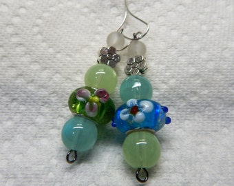 Lampwork Beaded earrings