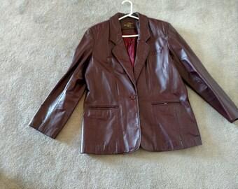 Vintage Aigner Leather Jacket
