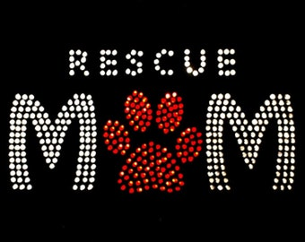 Pet Rescue Mom Scoop Neck Tee with Rhinestones