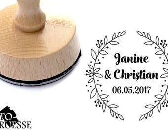 Personalized text stamp / / compose / / ring / / wedding / / wedding stamp