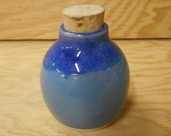 Oasis Blue Painted Mason Jar