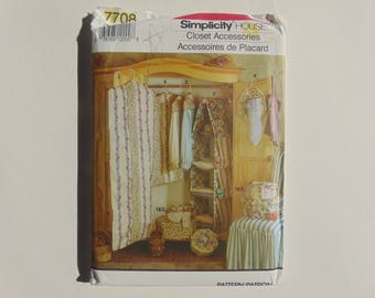 Simplicity House 7708 Closet Accessories and Band Boxes Sewing Pattern UNCUT