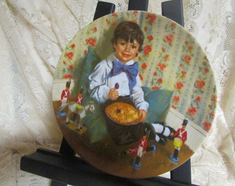 RECO International flat wall VTG Little Jack Horner Decorative Plate plate No. 4858 M authentic VINTAGE signed Decorative plate