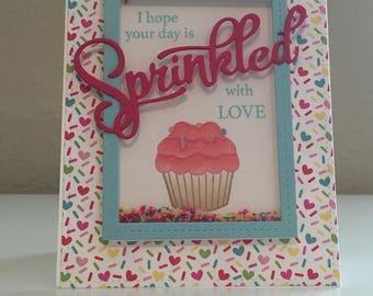 Birthday Card, Shaker Card, Sprinkles