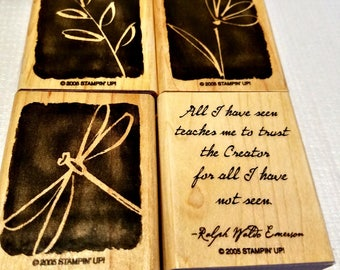 """Stampin Up! """"All I Have Seen"""" Wood Mounted Stamp Set - New in Original Package - Ready To Ship"""