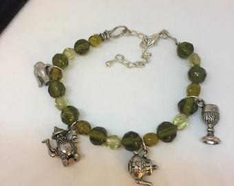 Green Beverage Charm Bracelet