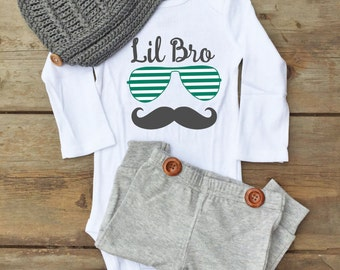 Little Brother Baby Shirt - Little Brother Baby Outfit - Little Brother Outfit - Little Brother Shirt - Lil Brother Outfit - Sibling Baby