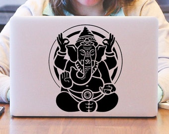 Meditating Om Ganesha Decal