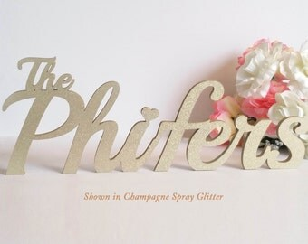 Last Name Wedding Table Sign for your Sweetheart Table; Large Wedding Decor; Personalized with Your Married Name - Soirée Collection  [LN01]