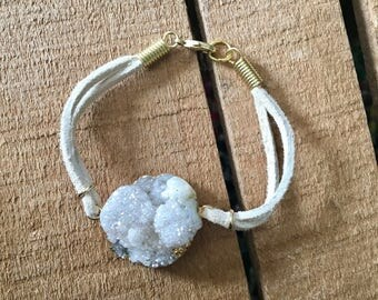 Stone Suede Bracelet