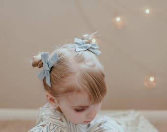 Baby Hair Bows - Pigtail Set - Hair Bows - Schoolgirl Bows