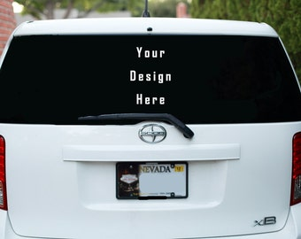 Custom Vinyl Decal Personalized for cars, store windows, business giveaways logo name