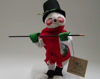 AnnaLee Collectible//Christmas Mobilitee//Snowman Rabbit Bunny 1991