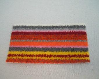 Miniature Rug ~ Kitchen rug ~ Mat ~ Door Mat ~ Striped Rug ~ Vintage ~ Fairy garden ~ Dollhouse ~ Terrarium ~ Accessories