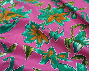 "Indian Decorative Cotton Fabric For Sewing Designer Pink Floral Pattern 100% Cotton Fabric 40""Wide Sewing Crafting Drape By The Yard ZBC6272"