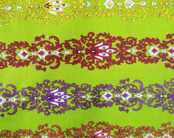 """Indian Dressmaking Fabric, Floral Cotton Fabric, Quilt Material, Green Fabric, Sewing Decor, 43"""" Inch Floral Fabric By The Yard ZBC7003D"""