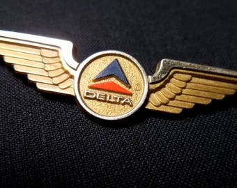 Vintage 1960's Delta Airlines Junior Wings