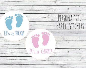 Personalized Baby Boy Baby Shower Favor, Favor Tags, Labels, Pink Blue,Thanks for Coming, Baby Stickers,  Baby Girl You Choose Size