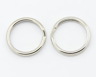 50 Pcs Split Rings 15 mm - Small Key Rings | Key Rings | Keyrings | Split Rings | 0306