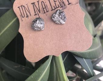 Natural Pyrite Stud Earrings - Pyrite Studs - Geo Earrings - Handmade Earrings - Wedding Jewelry - Bridesmaid Gifts