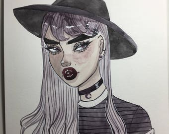 Witch Would It Be Original Watercolor Painting