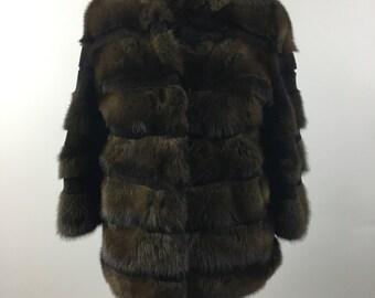 On christmas sale/Luxury gift/ Sable fur coat/ Fur jacket / Wedding,or anniversary present