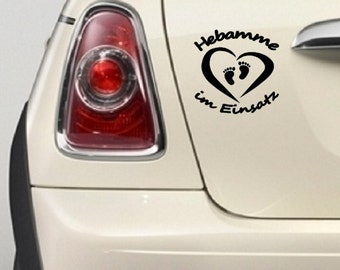 "Bumper sticker ""Midwife in use"""