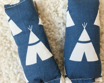 Tee Pee Reversible Strap Covers, Car Seat Strap Covers, Neck Strap Covers for Baby Car Seats, Seat Belt Covers for Car Seats