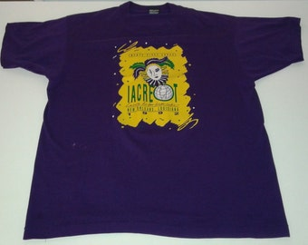 Vintage Screen Stars 1992 IACREOT Conference New Orleans, Louisiana graphic tshirt size XL