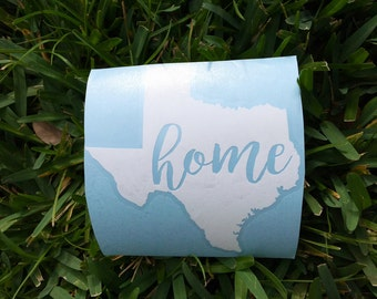 50 State Home vinyl decal, state vinyl decal, home vinyl decal, state decal, home decal, state car decal, state laptop decal, state yeti dec