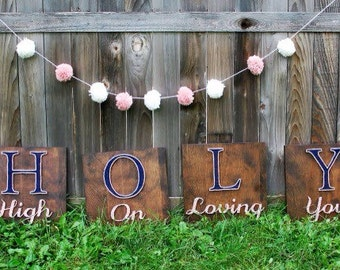 MADE TO ORDER High On Loving You Set of Four String Art Sign
