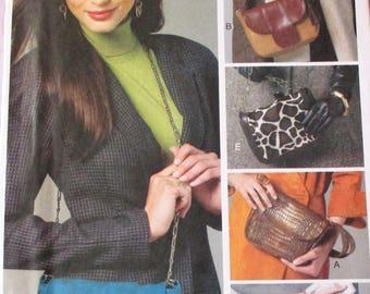 "Vogue pattern, V8782, Vogue accessories, bags, shoulder bags, front variations, strap variations, all 1 size, 8 1/2"" x 6 1/2"""