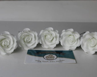 EXTRA SMALL Handmade Edible Sugar Rose/Flower. Cake Topper.