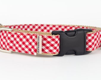 Red Gingham Martingale Collar