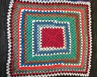 Handmade Granny Square Crochet Blanket