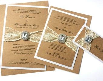 Vintage Romanticism Collection, Wedding Invitation