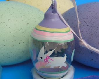 Vintage Easter Egg Miniature Blown Glass Egg Hand Painted Easter Egg Decor Miniature Glass Egg Ornament Painted Glass Easter Tree Ornament