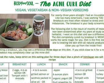 The Acne Diet: A 3 Day Jumpstart for Clearing Your Skin Once and for All